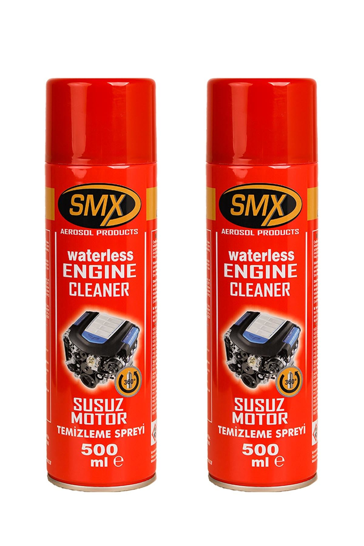 SMX Susuz Motor Temizleme Spreyi 2 Adet (2x500 ML)