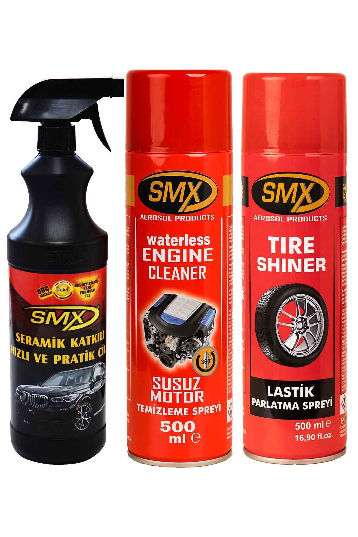 SMX Seramik Cila / Hızlı Cila / Pratik Cila / Susuz Motor Temizleme Spreyi / Lastik Parlatma Spreyi