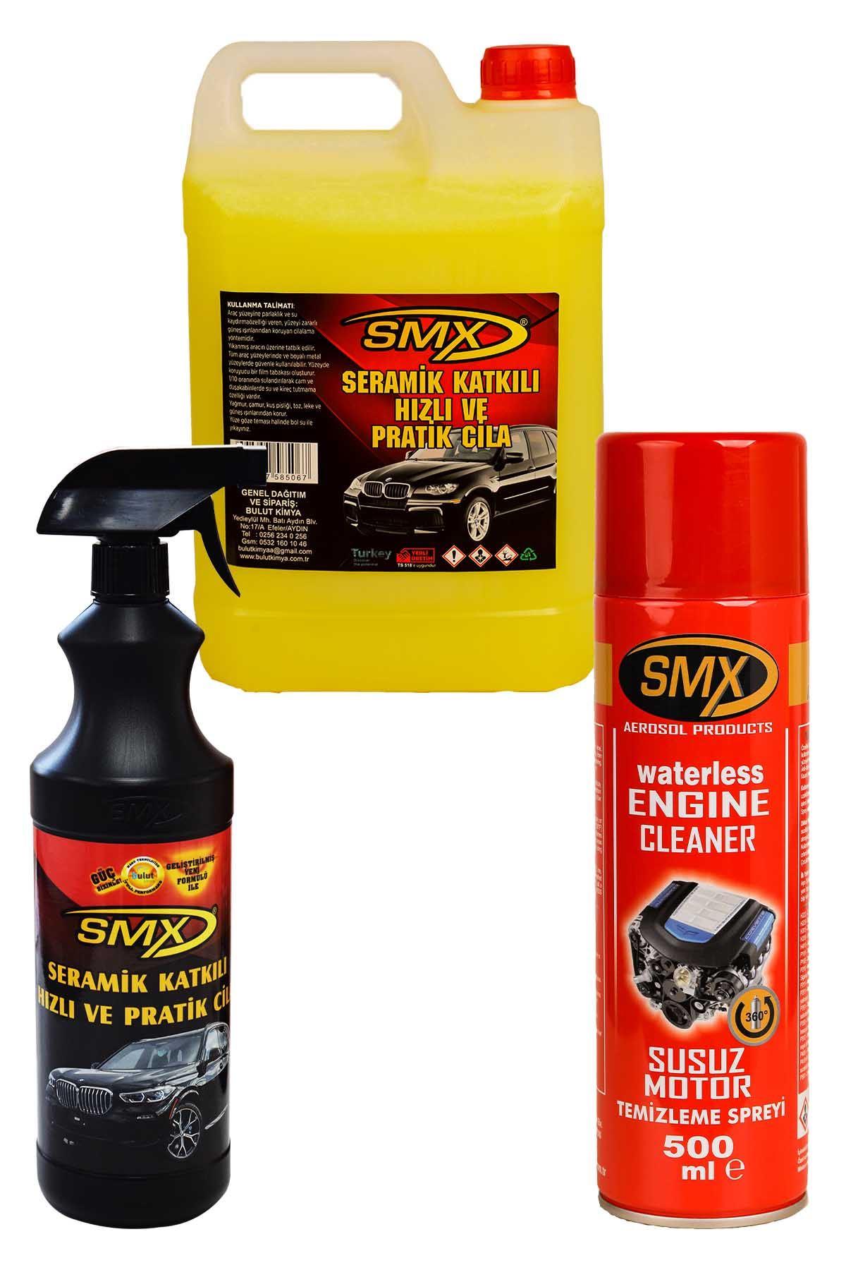 SMX Seramik Cila / Hızlı Cila / Pratik Cila 5+1 / Susuz Motor Temizleme Spreyi