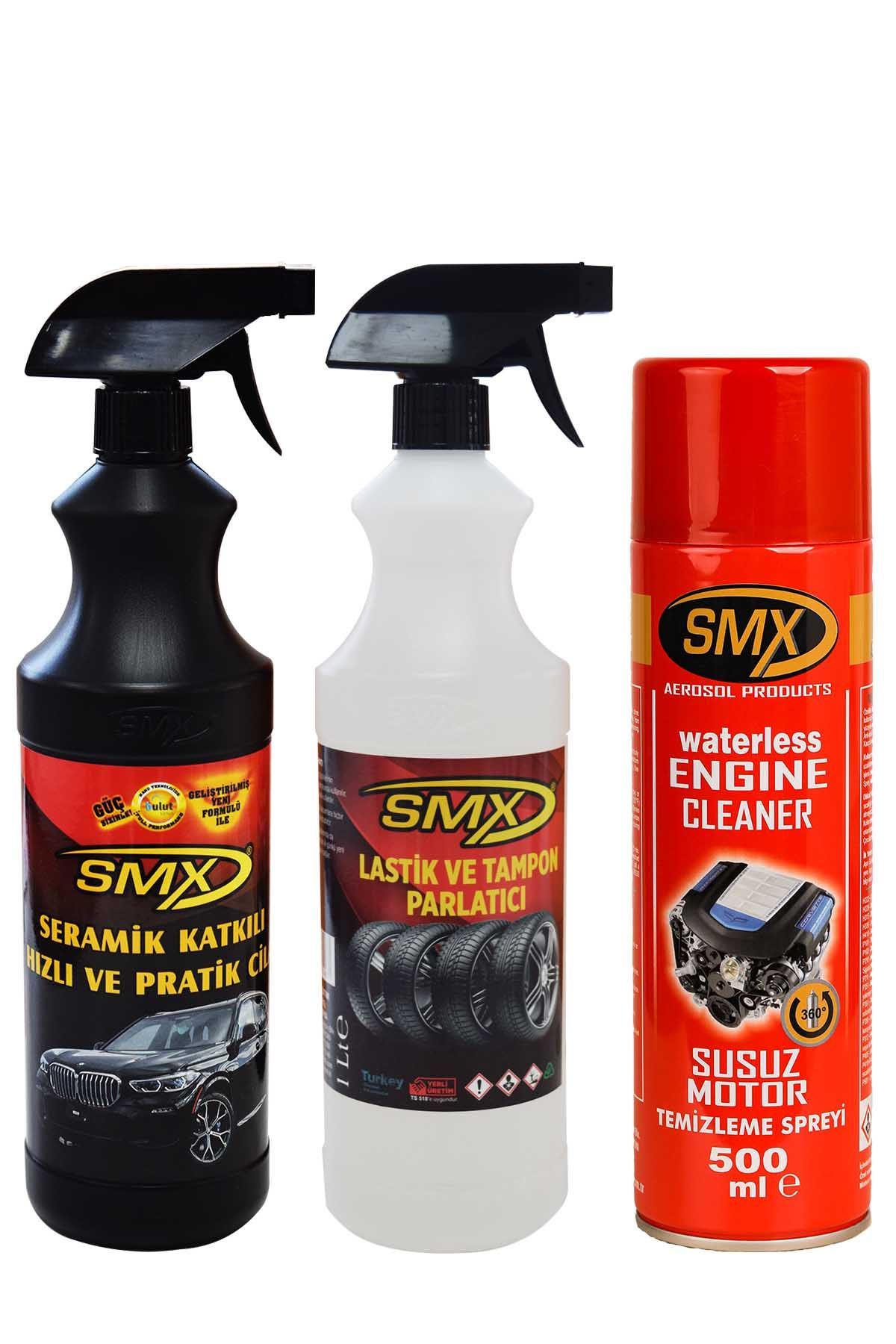SMX Susuz Motor Temizleme Spreyi / Seramik Cila / Hızlı Cila / Pratik Cila / Lastik Parlatıcı / Tampon Parlatıcı / ARAÇ BAKIM SETİ-2