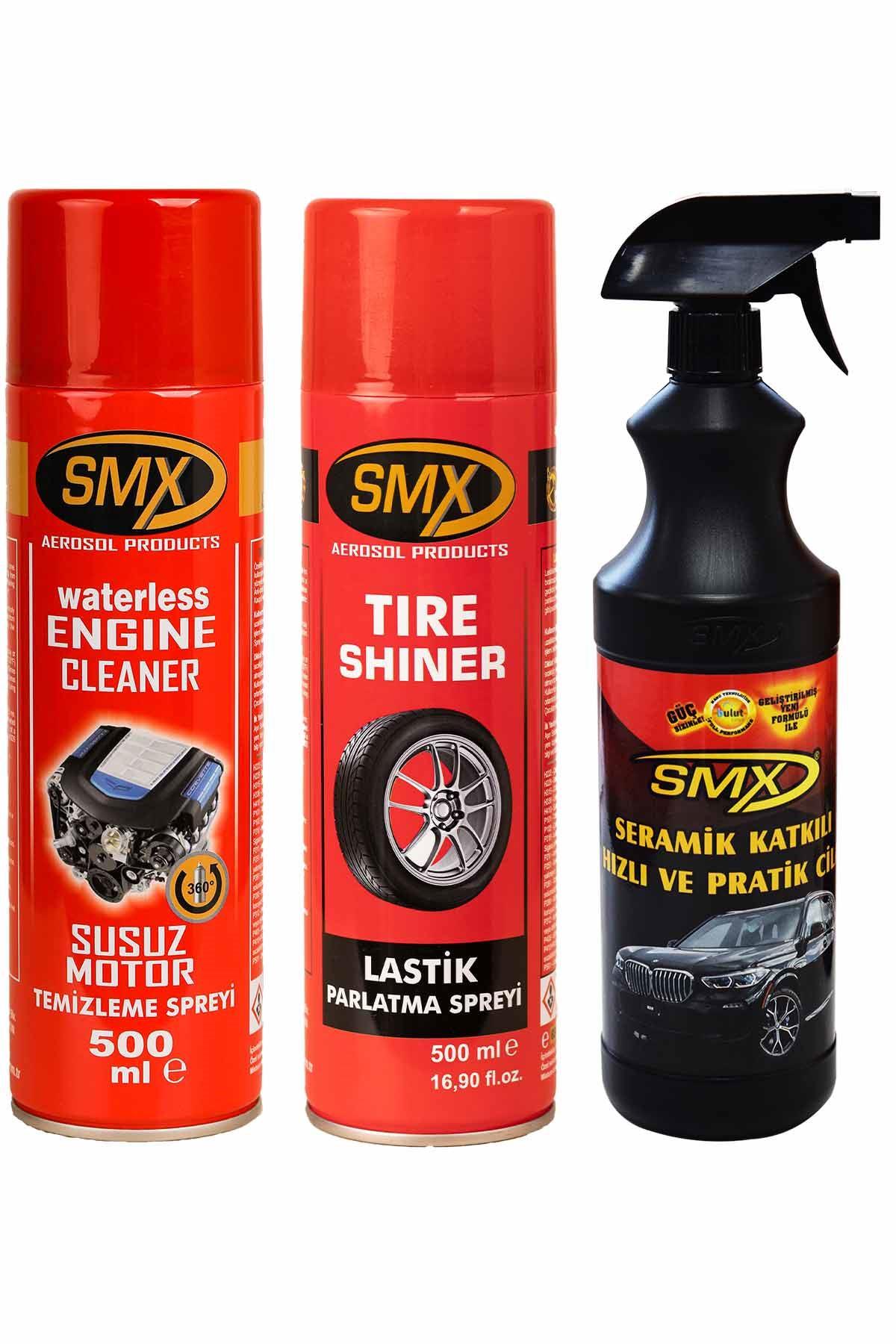 SMX Susuz Motor Temizleme Spreyi / Lastik Parlatıcı / Seramik Cila / Hızlı Cila / Pratik Cila