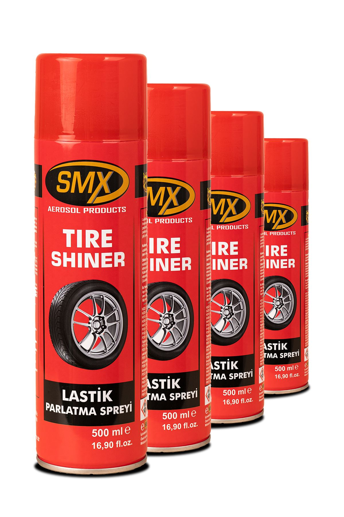 4 Adet SMX Lastik Parlatma Spreyi (4x500 ml)